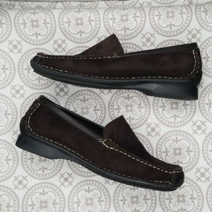 René by Ara Brown Suede Loafers Size 7